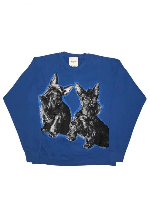 Sweat-shirt Dog bleu
