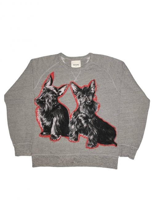 Sweat-shirt Dog gris
