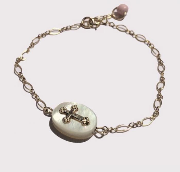 Bracelet Nacre & Croix