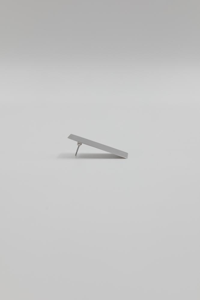 Paire de Boucles d'Oreilles Asymétrique Plaque