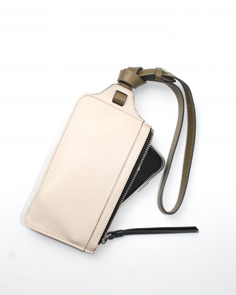 Pochette de téléphone avec Portefeuille - Crème