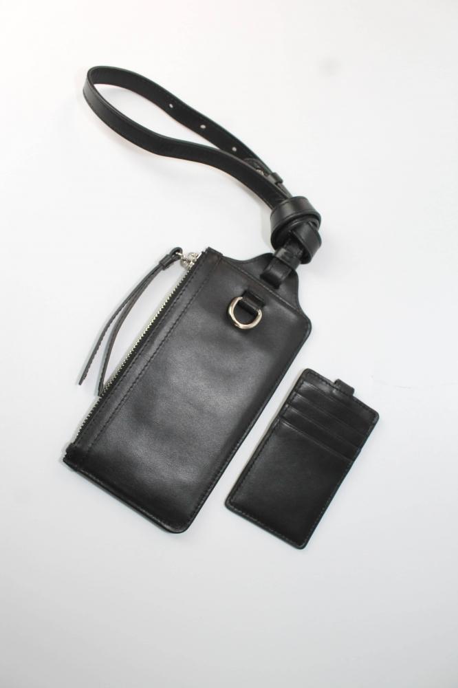 Pochette de téléphone avec Portefeuille - Noir