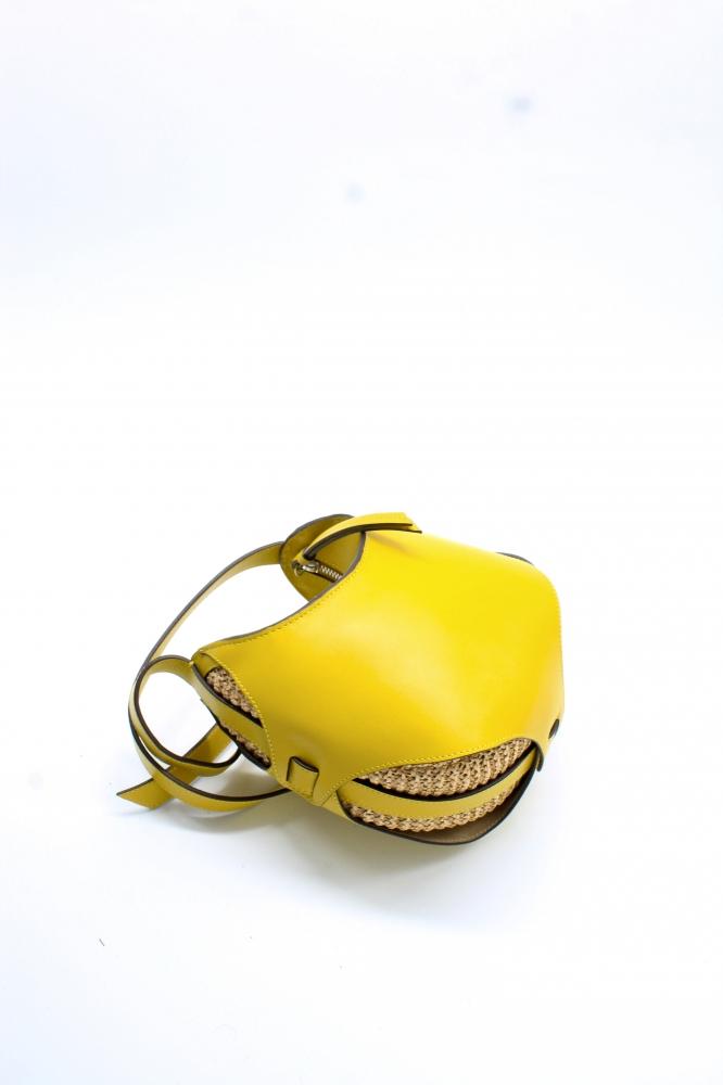 Mini Boule - Jaune/Raphia tricoté