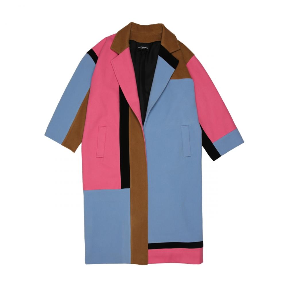 Manteau Color Block