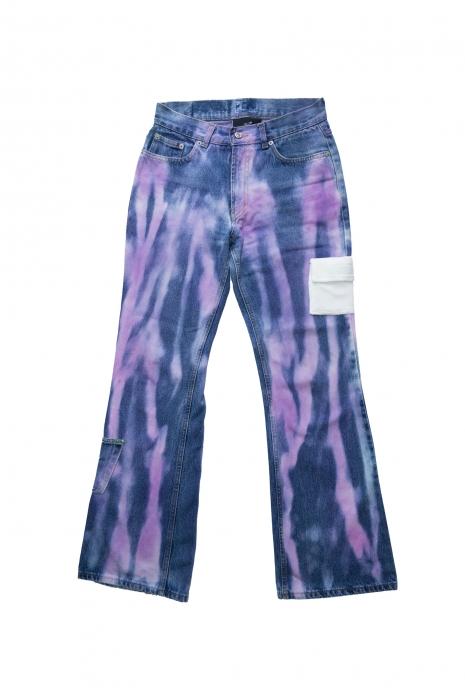 Jean tie & dye flair