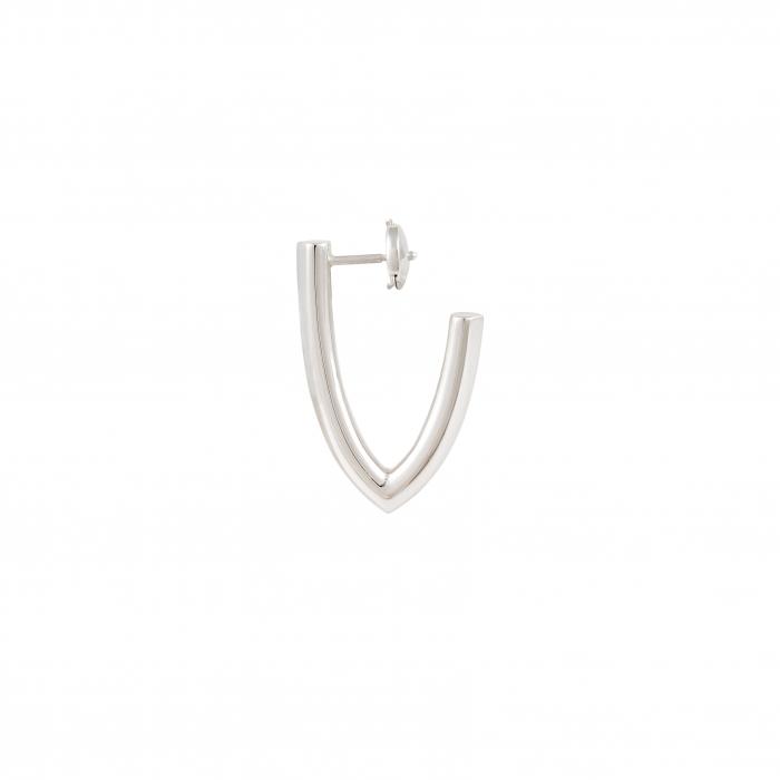 Boucles d'Oreilles - V - Silver