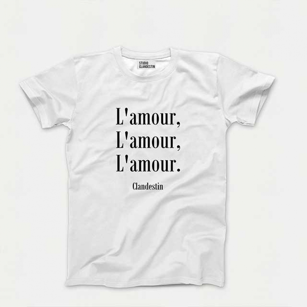"Tee-Shirt \""A\""mour Clandestin"