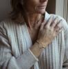 Bracelet Marguerite Caoutchouc Upcyclé et Argent plaqué Or ou Argent