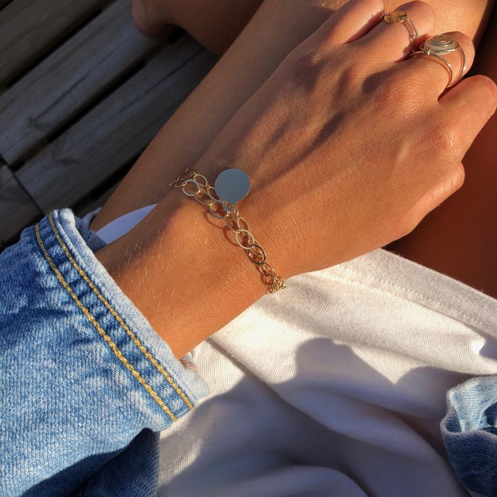 Le Bracelet Double Chaîne