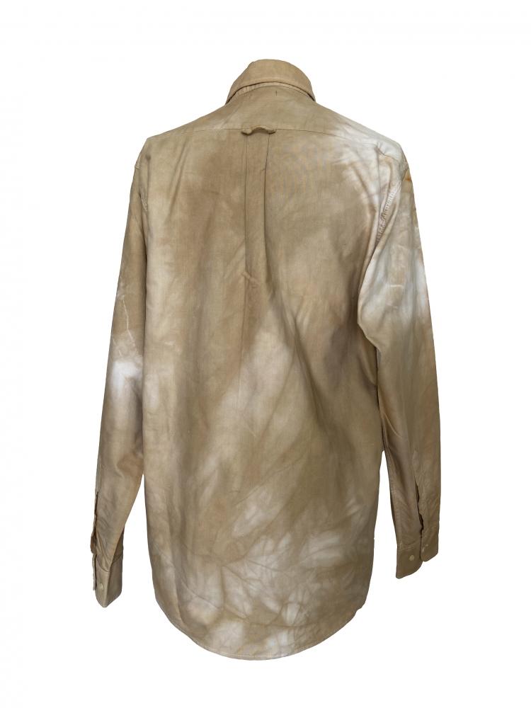 Chemise à manches longues en coton beige