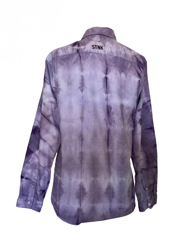 Chemise au motif tie and dye violet