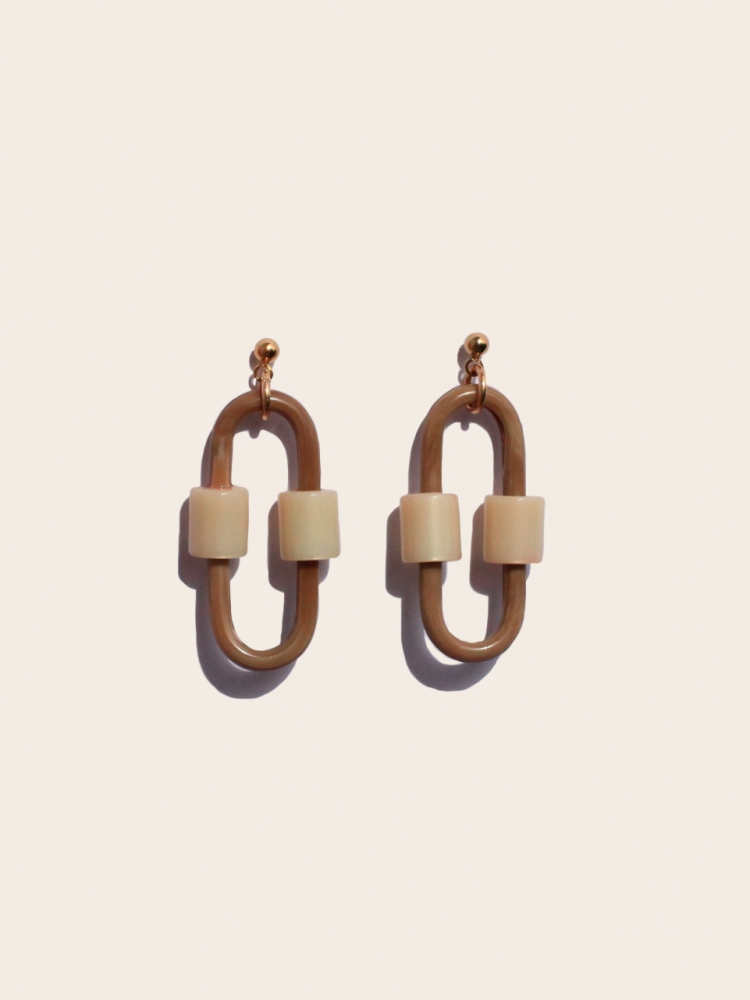 Boucles d'Oreilles Jaya - Beige