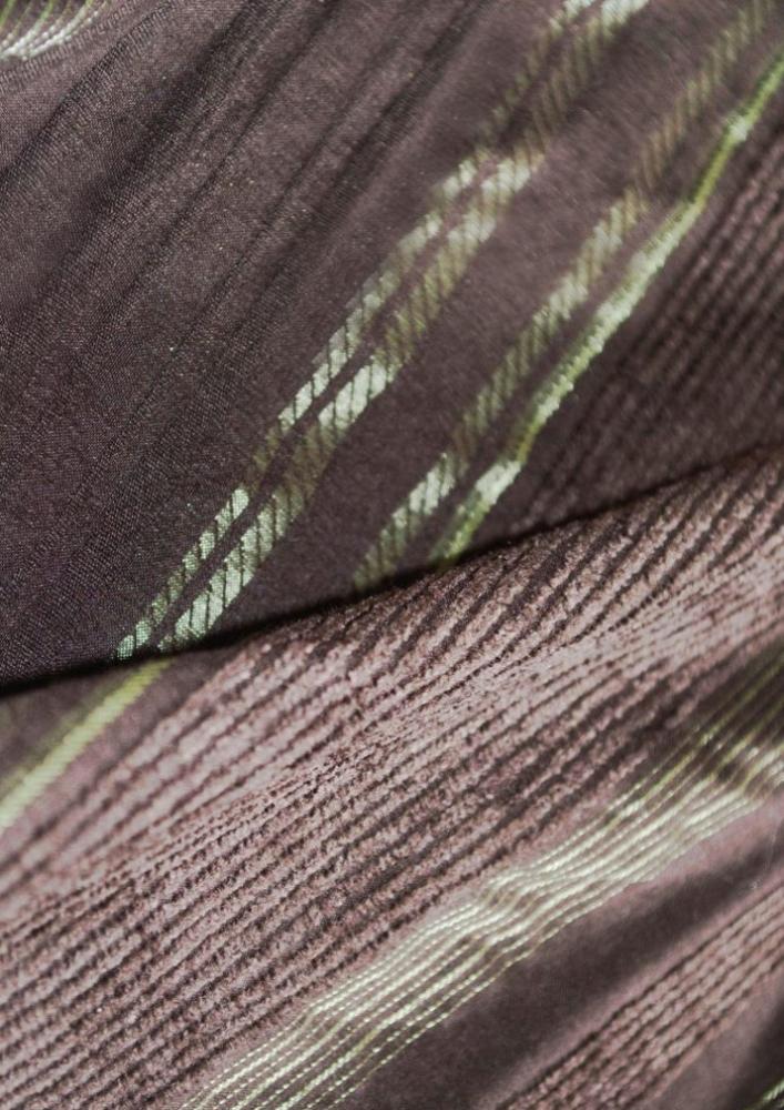 Jupe à volants et motifs irisés marron et vert