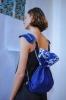 Mini-Kyandi Bag, sac en daim bleu cobalt