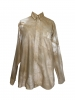 Chemise à manche longue en coton beige