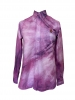 Chemise tie and dye slim fit rose
