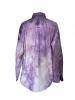 Chemise oversize au motif tie and dye violet