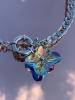 Collier Chaîne Argentée et Penditif Fleur en Cristal
