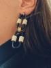 Boucles d'Oreilles Mia - noir