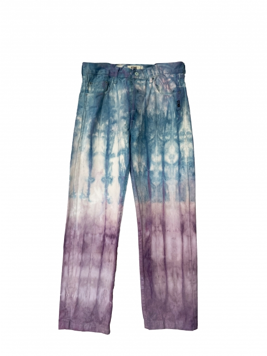 Jean tie and dye bleu