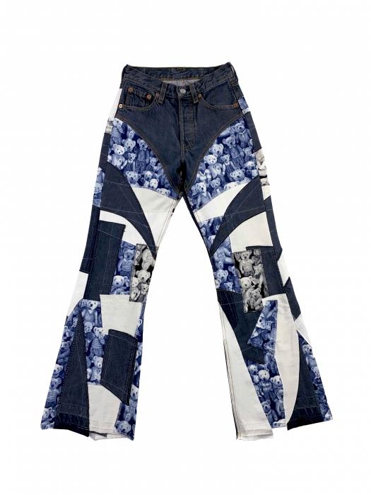 Pantalon Patchwork upcyclé Teddy B 3