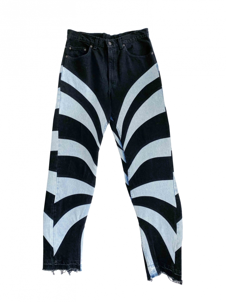 Pantalon Patchwork upcyclé Illusion