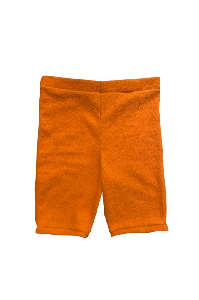 Short Cycliste orange en Polaire