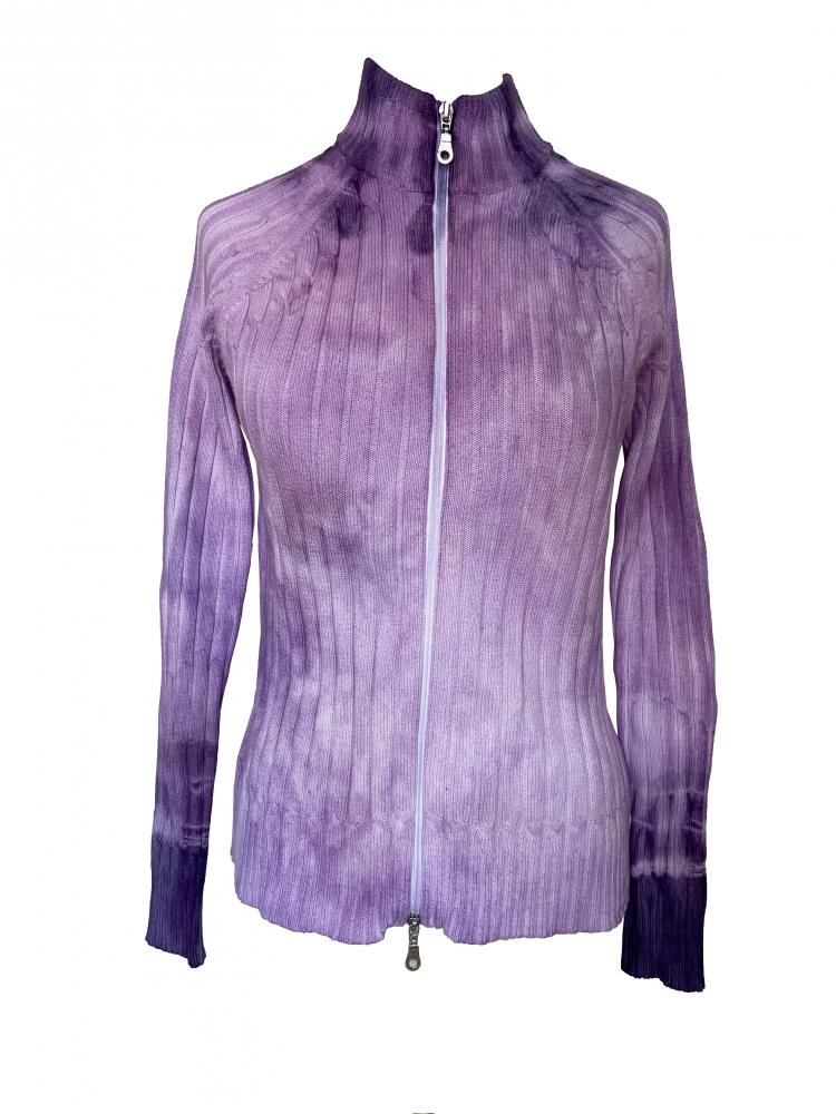 Pull zippé tie and dye violet