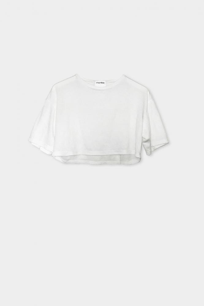 T-shirt court unicolore blanc