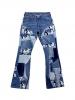 Pantalon Patchwork upcyclé Teddy B 2