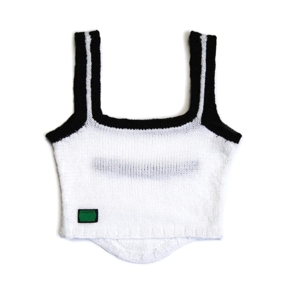 Top en tricot blanc