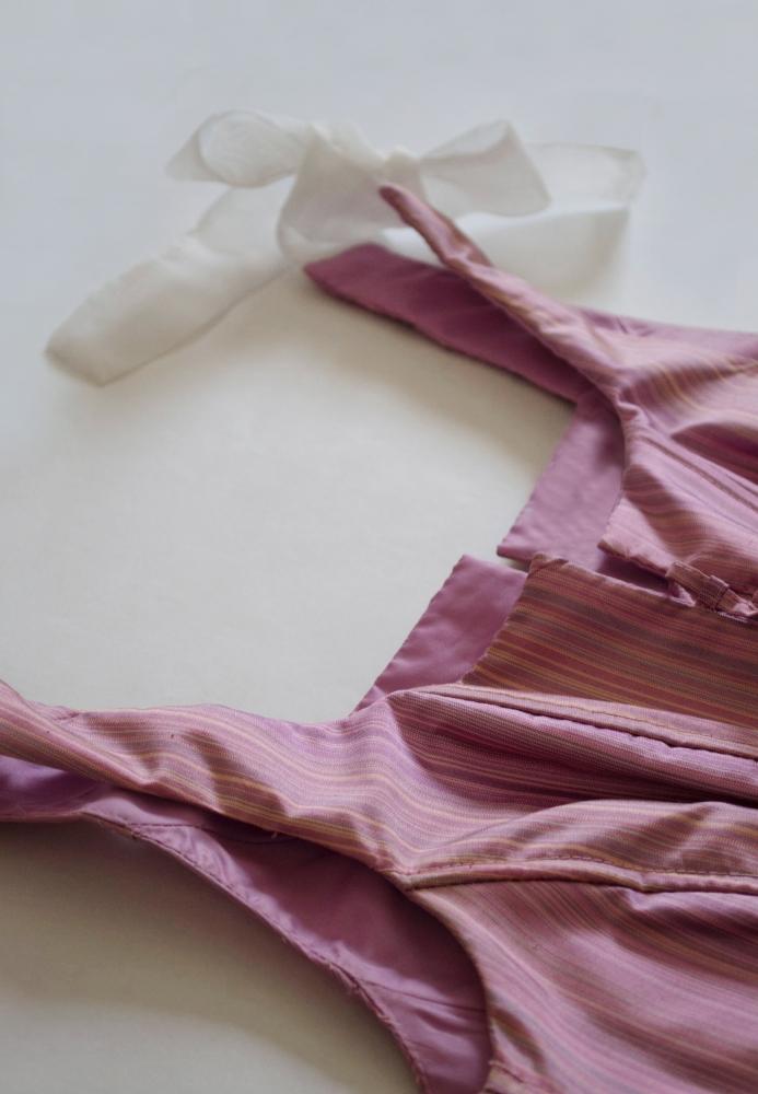 Bustier coupe corset mauve