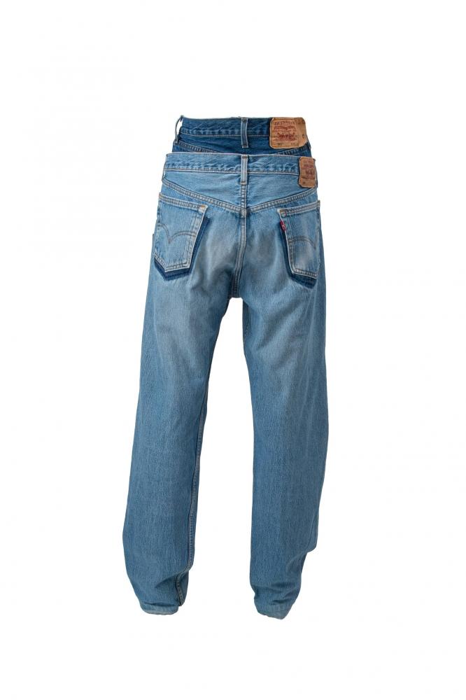 Jean taille haute doublé