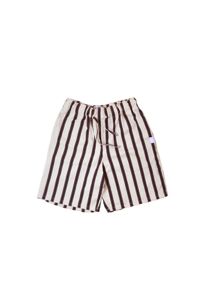 Short en coton avec rayures marine