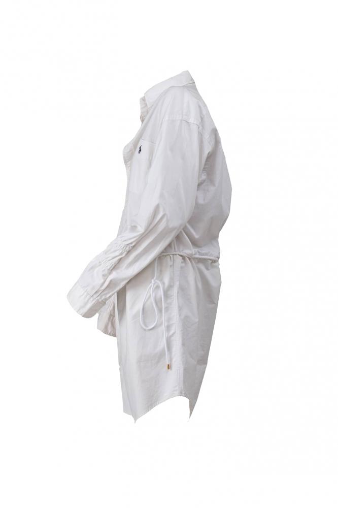 Robe chemise doublée blanche