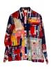 Veste worker à motif patchwork