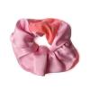 Chouchou en soie rose