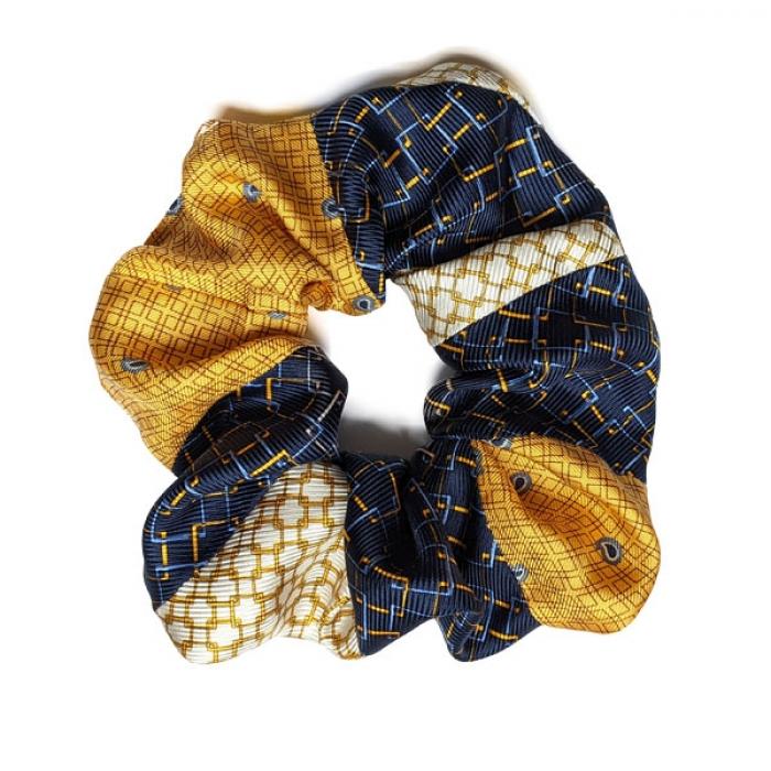 Chouchou en soie imprimé foulard