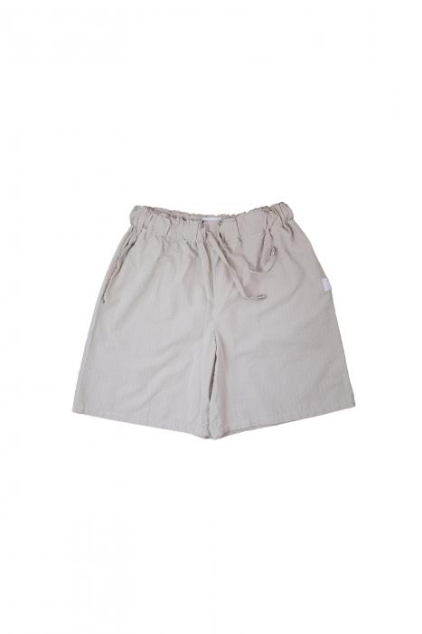 Short en coton beige