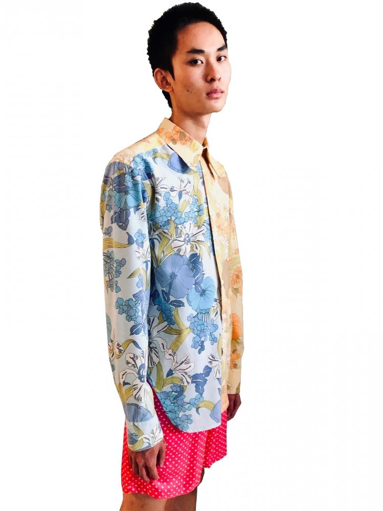Chemise oversize à motif floraux rebuild