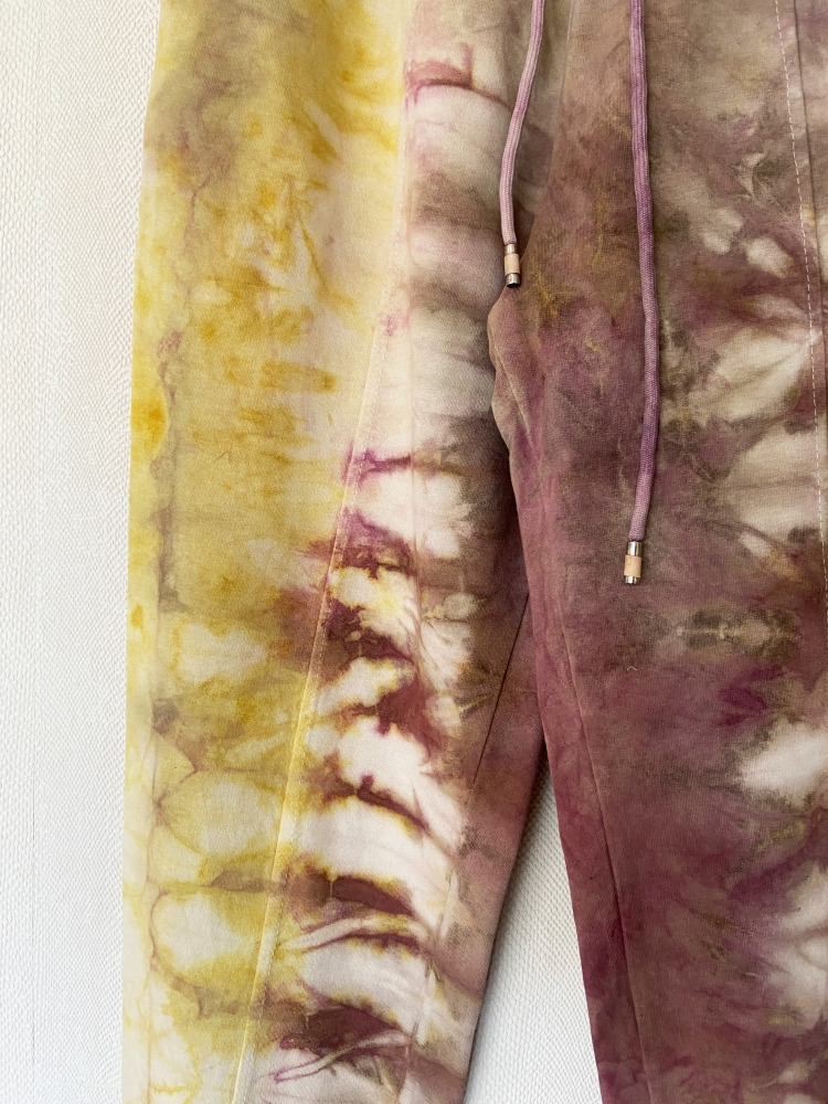 Jogging tie and dye jaune et brun