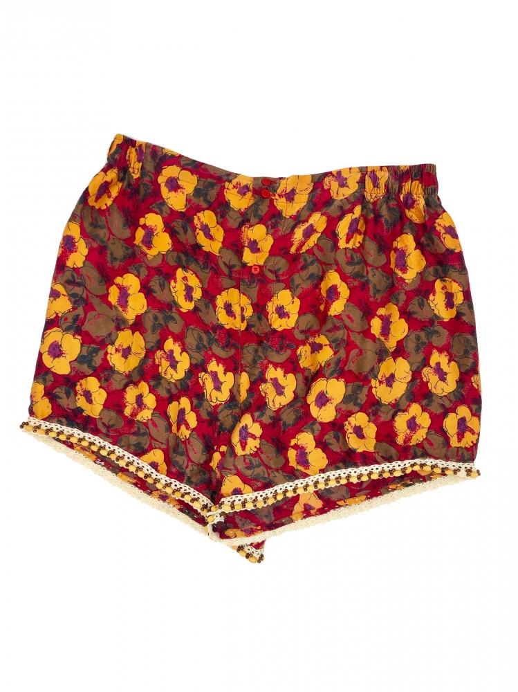 Caleçon en soie à motif floraux.