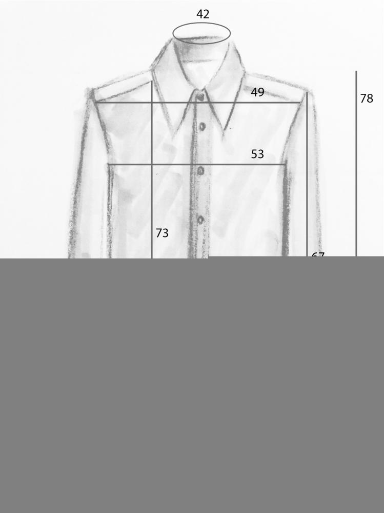 Chemise oversize imprimé drap vintage