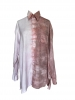 Chemise à manches longues tie and dye taupe