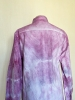 Chemise à manches longues tie and dye rose