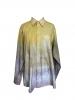 Chemise à manches longues tie and dye jaune gris