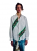 Chemise à motif diagonal