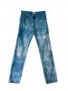 Jean slim tie and dye bleu