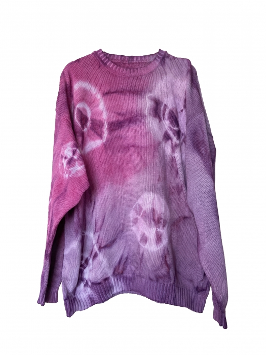Pull oversize tie and dye