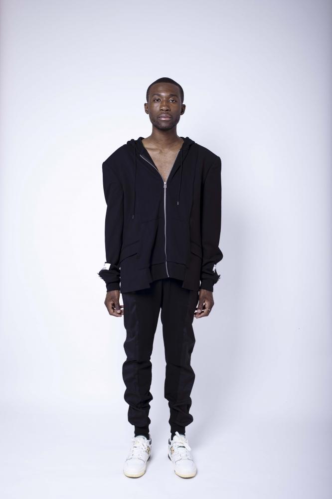 Veste de costume jogging noire